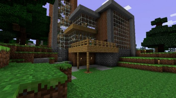 A house built in Minecraft